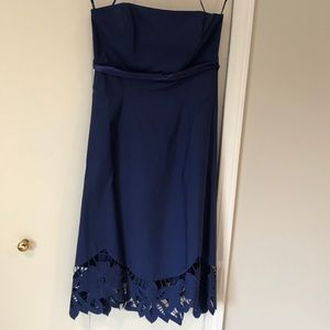 Gorgeous Blue Dress with Lace Detail